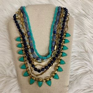 Stella & Dot Blue Stone Sutton Necklace